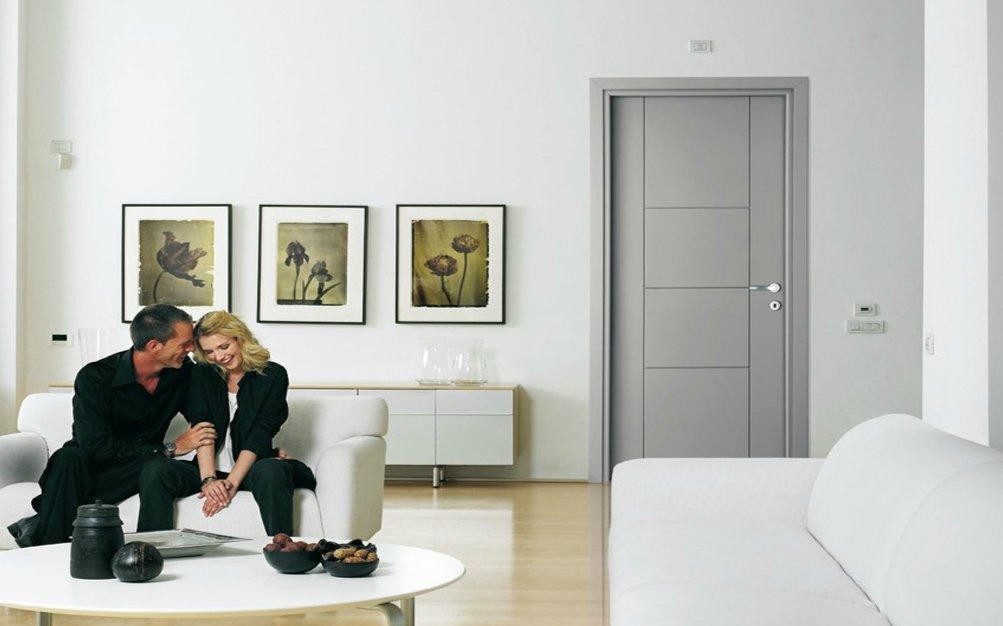 Puertas de interior color gris stunning detalle puerta for Puerta interior gris