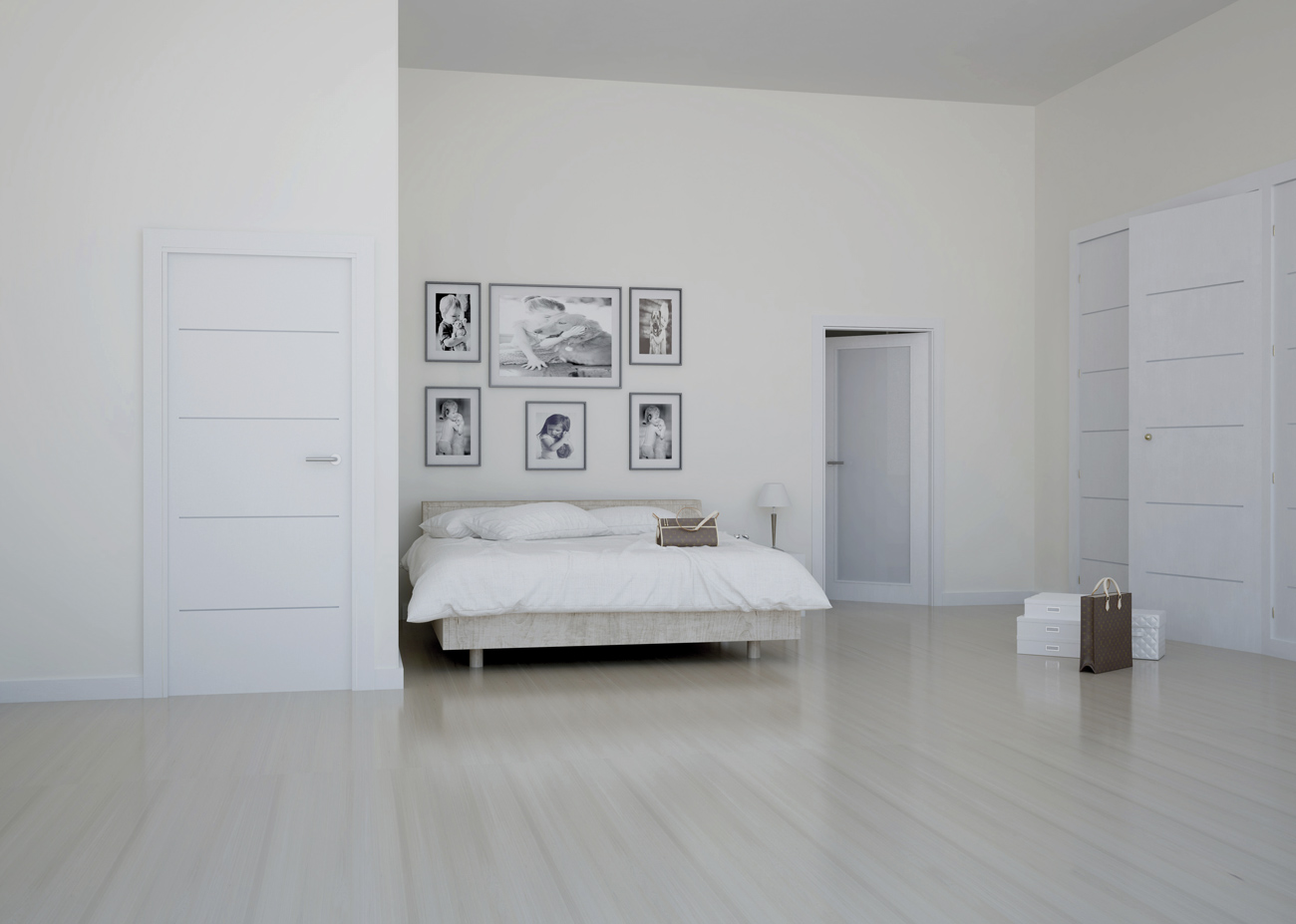 Puertas lacadas en blanco y a medida de tama o y de color - Trabajo albanil madrid ...