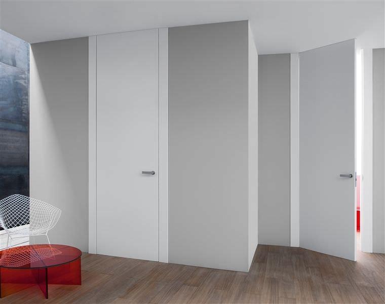 Puertas lacadas en blanco y a medida de tama o y de color - Precio techo madera ...