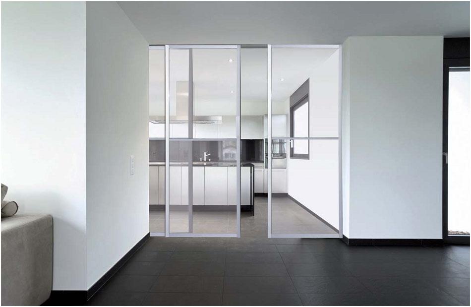 Puertas correderas de cristal empotradas fabulous with puertas correderas de cristal empotradas - Puertas de cristal para armarios ...