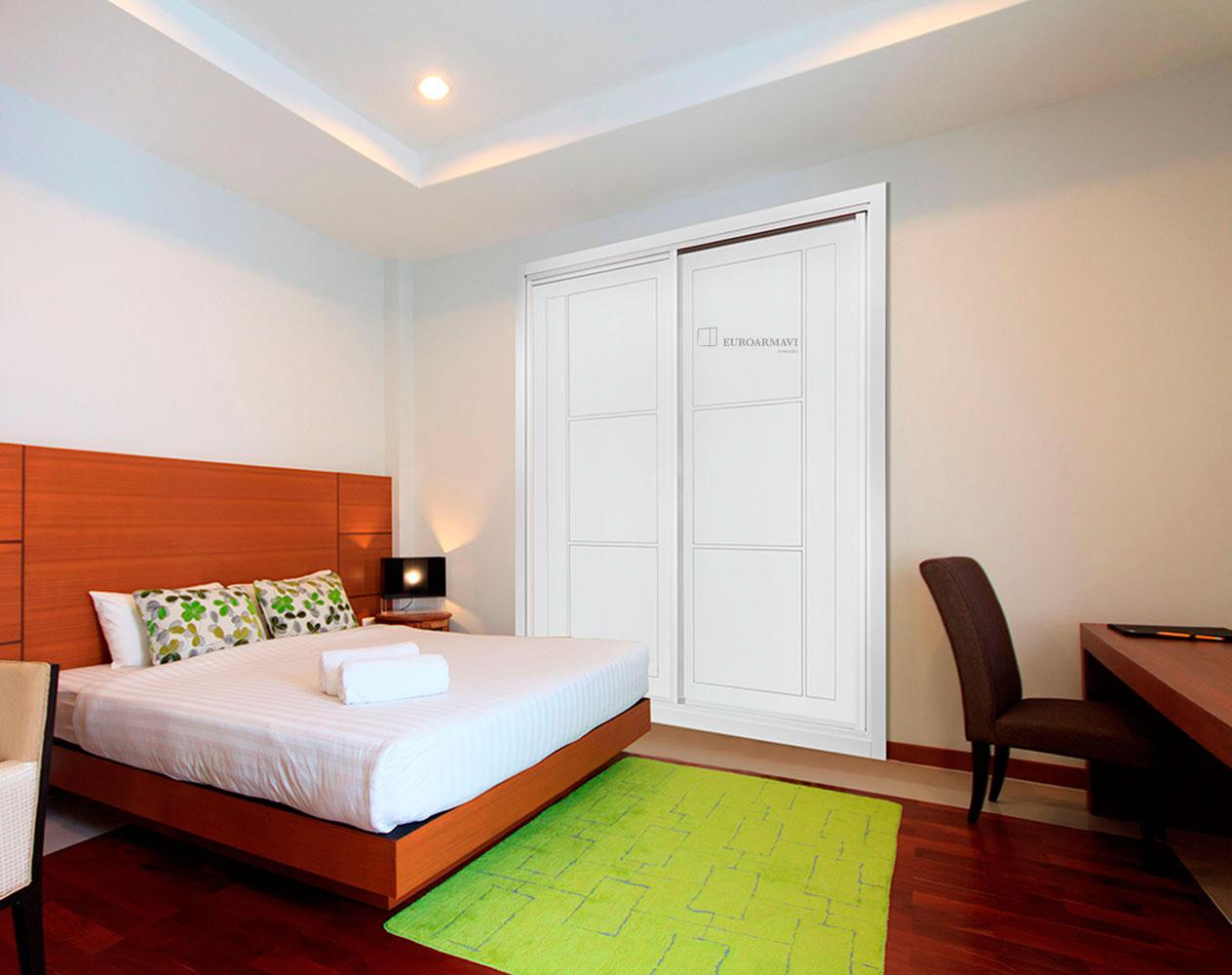 Armarios en las rozas fabricados a medida puertas lacadas for Puertas dormitorios modelos