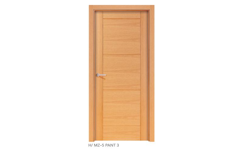 H MZ 5 Pant 3 puertas de madera pantografiadas