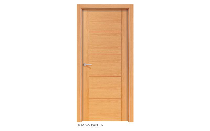 H MZ 5 Pant 6 puertas de madera pantografiadas