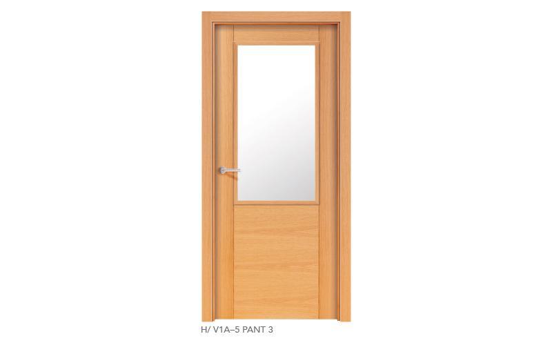 H V1A 5 Pant 3 puertas de madera pantografiadas