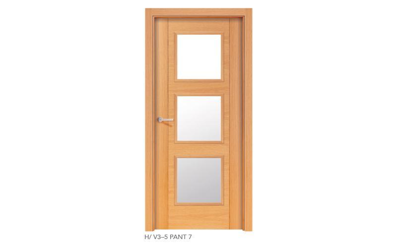 H V3 5 Pant 7 puertas de madera pantografiadas
