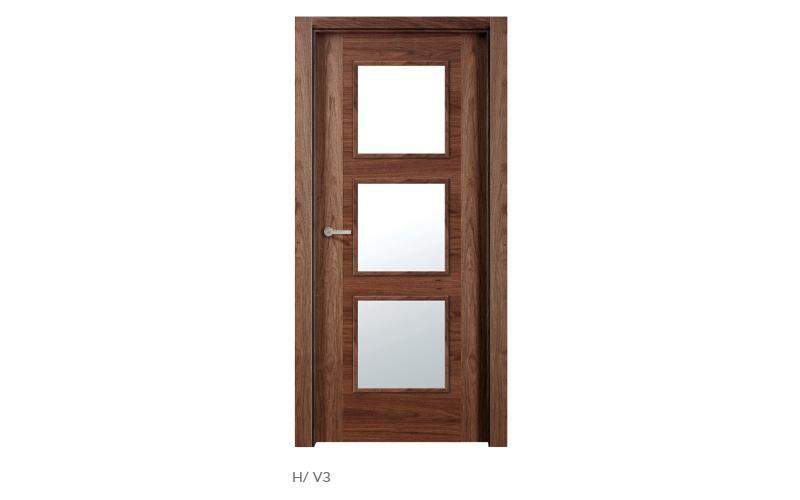 H V3 puertas de madera modelo H