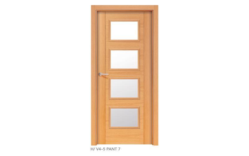 H V4 5 Pant 7 puertas de madera pantografiadas