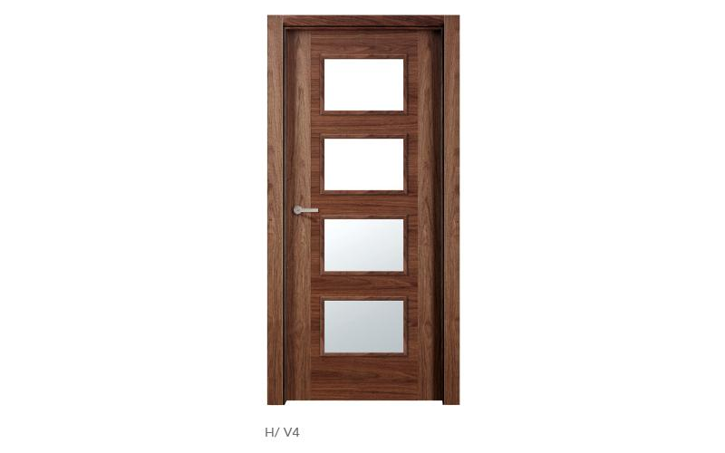 H V4 puertas de madera modelo H