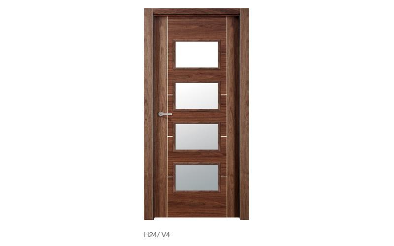 H24 V4 puertas de madera modelo H