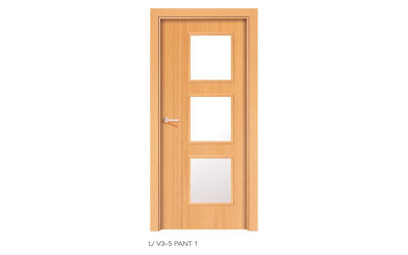 L V3 5 Pant 1 puertas de madera pantografiadas