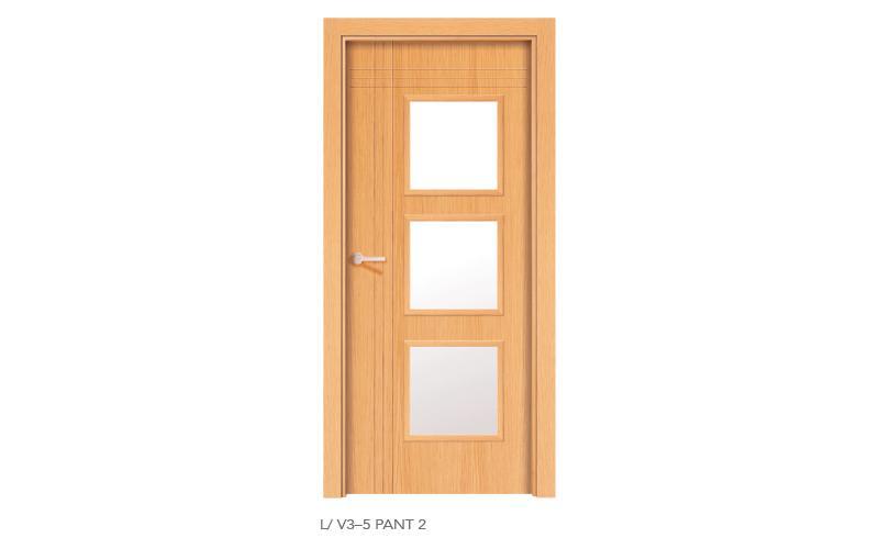 L V3 5 Pant 2 puertas de madera pantografiadas