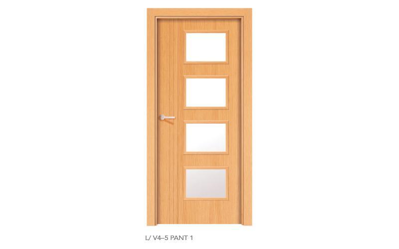 L V4 5 Pant 1 puertas de madera pantografiadas