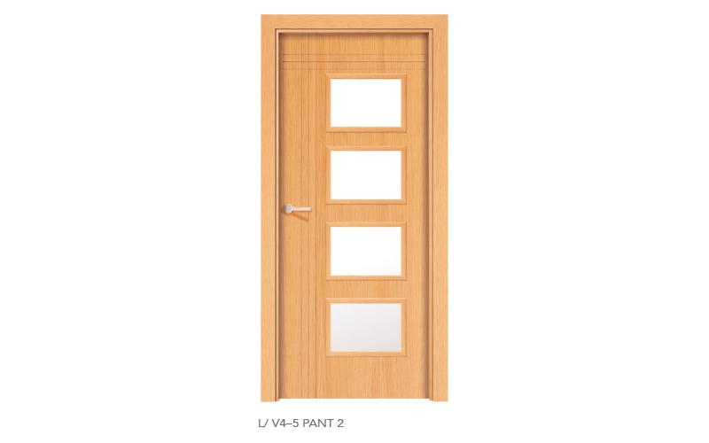 L V4 5 Pant 2 puertas de madera pantografiadas