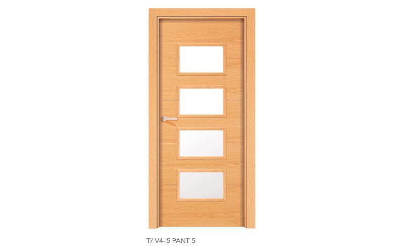 L V4 5 Pant 5 puertas de madera pantografiadas