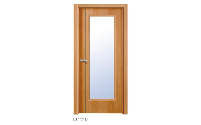 L1 V1B Puertas lisas de madera
