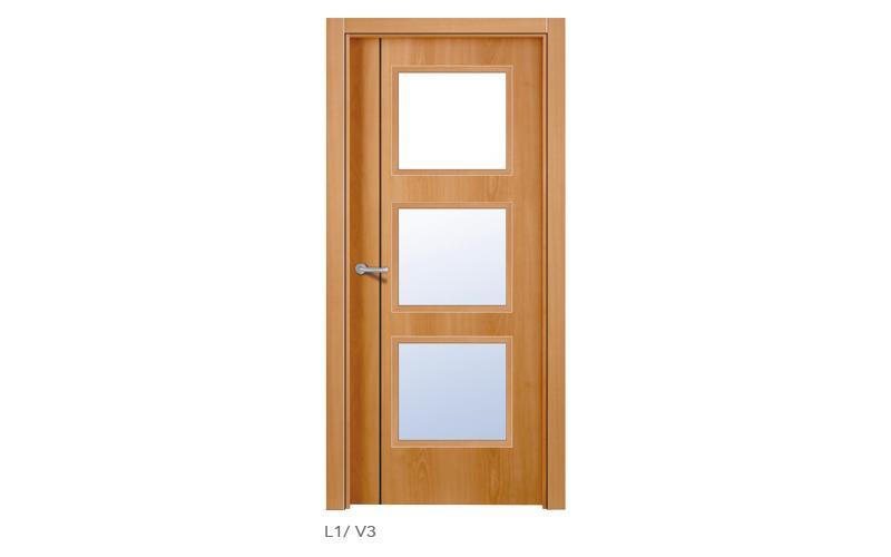 L1 V3 Puertas lisas de madera