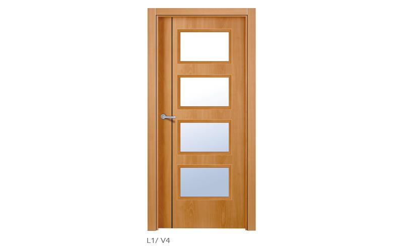 L1 V4 Puertas lisas de madera