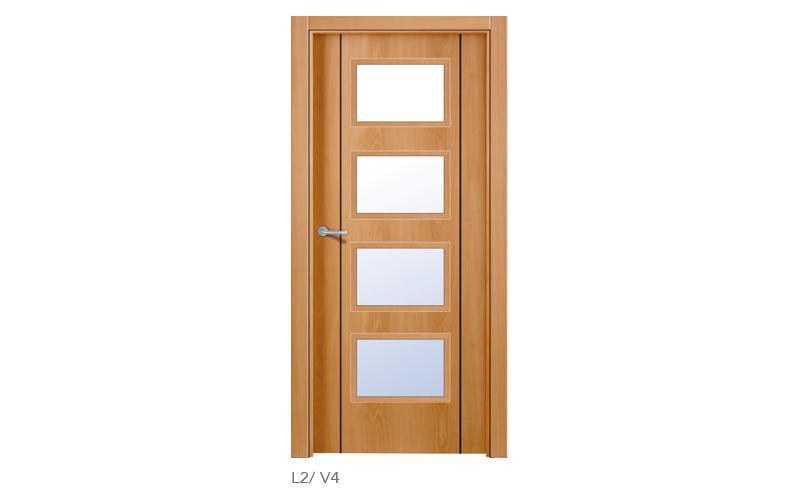 L2 V4 Puertas lisas de madera
