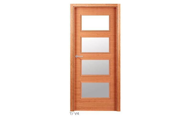 T V4 Puertas de madera lisas