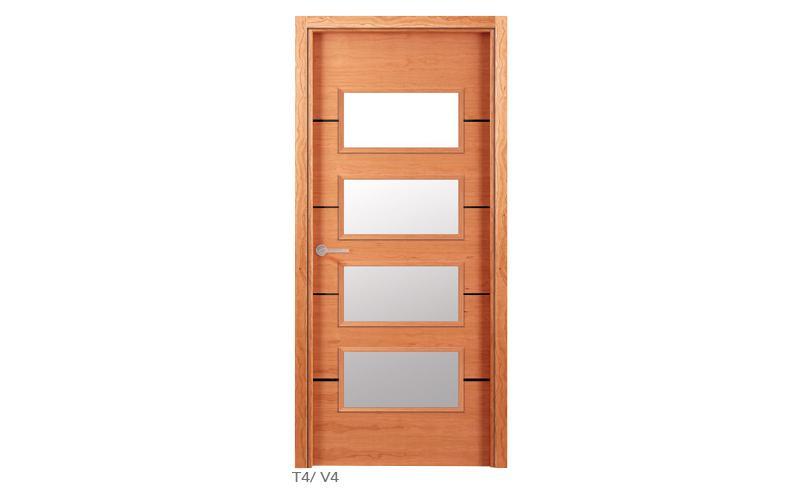 T4 V4 Puertas de madera lisas
