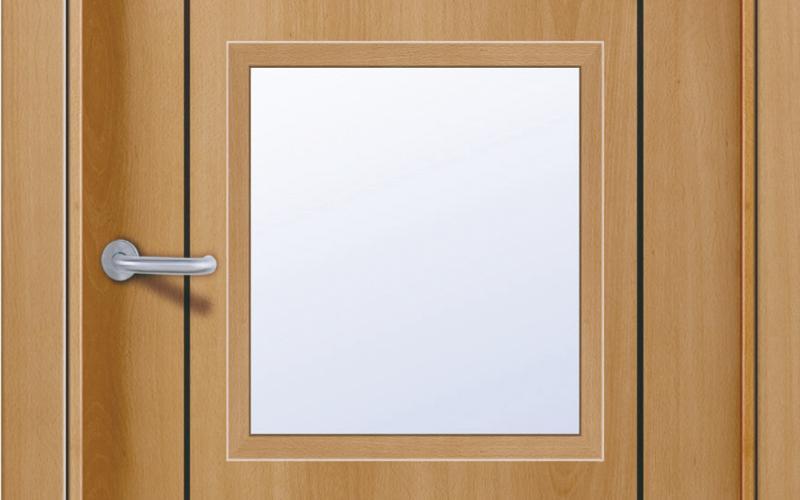 detalle lisa Puertas lisas de madera
