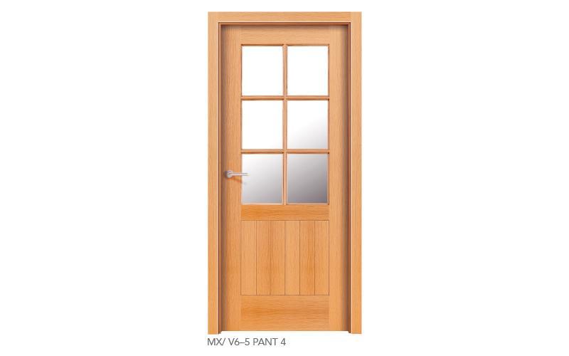 MXV6 5 PANT 4 puertas de madera pantografiadas